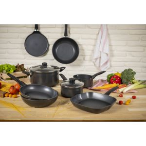 Easy Induction 5pc Cookware & Frying Pan Set