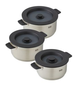Smart & Compact 3 Pan Cookware Set