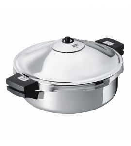 Duromatic Hotel Pressure Cooker Frying Pan Side Grips - 28cm / 5L