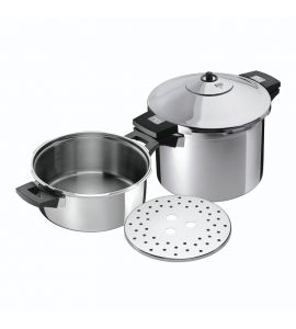 Duromatic Inox Pressure Cooker Set Side Grips 4L & 8L / 24cm