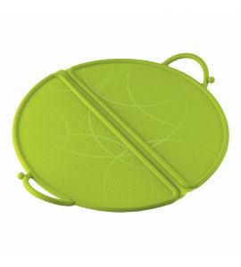 Splatter Guard Foldable Silicone Large Green