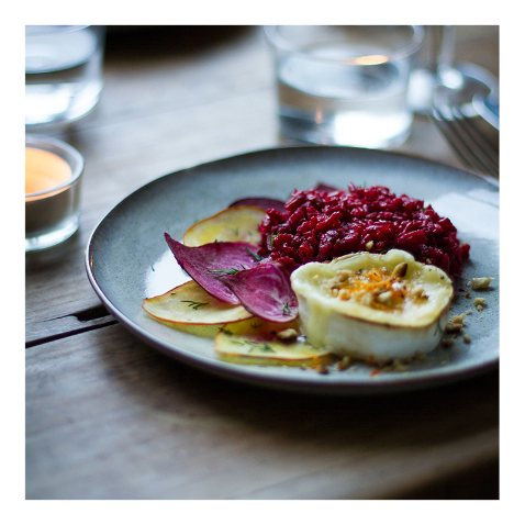 Beetroot Risotto with Goat's Cheese