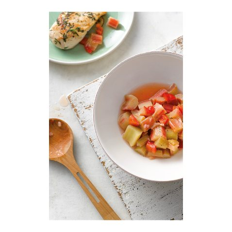 Sweet and Sour Rhubarb Ratatouille