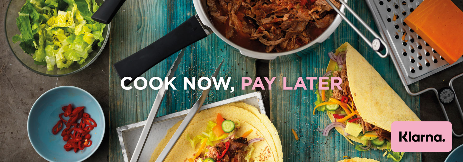 Klarna, Sale, Cook Now, Pay Later
