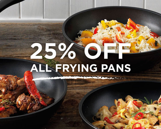25% off Frying Pans