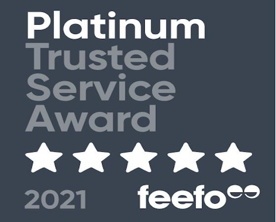 FEEFO 2021 Platinum Award
